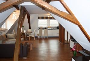 Loft-Appartment: Wohnbereich