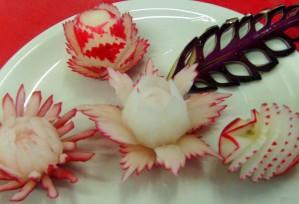 Radieschen | Obst- & Gemüseschnitzereien im Thai Tawan - Thailändisches Restaurant im Breisgau b. Europa-Park Rust