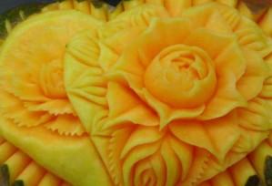 Honigmelone | Obst- & Gemüseschnitzereien im Thai Tawan - Thailändisches Restaurant im Breisgau b. Europa-Park Rust