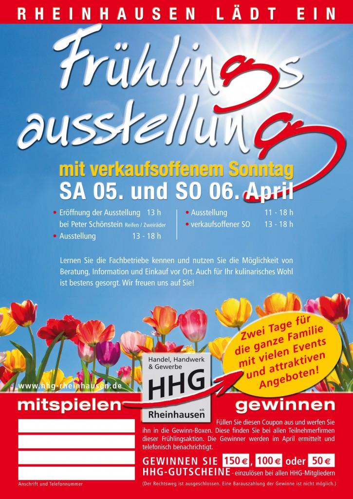 HHG Rheinhausen Früglingsfest 2014: Flyer-Vorderseite